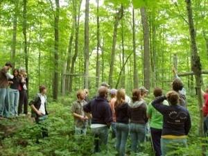 Bob Evan's takes UNDERC-East class through wilderness area
